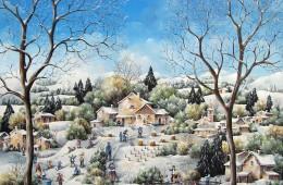 Il a neigé sur la colline