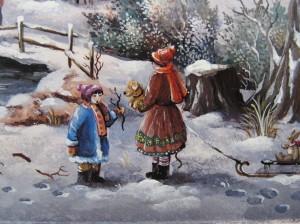 Détail du tableau : La neige bleue